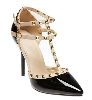 Studded Patent Leather Heels