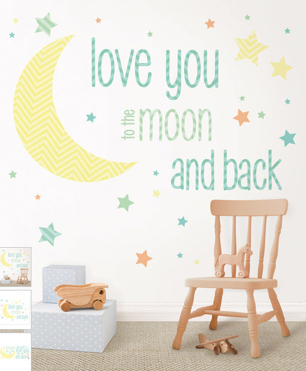 'I Love You To the Moon' Decal Set