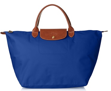 Longchamp Le Pliage Medium Tote, Azzuro