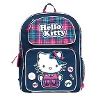 Hello Kitty Navy Plaid Backpack