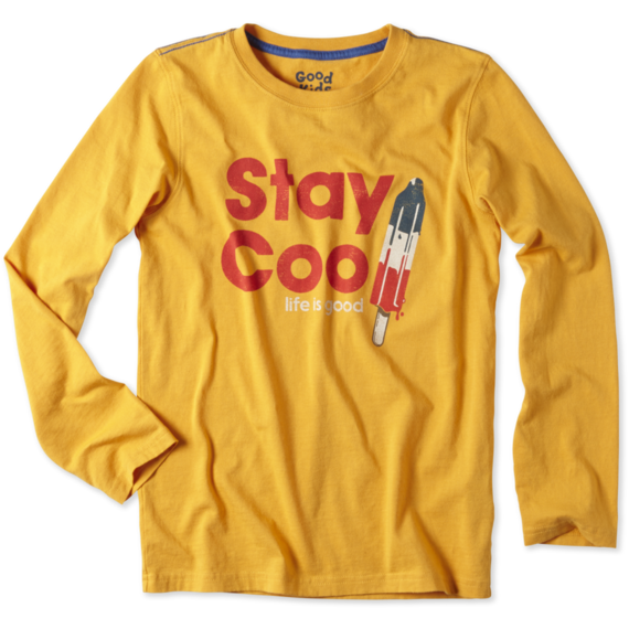 BOYS' STAY COOL LONG SLEEVE FEATURE TEE