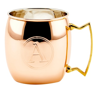 Old Dutch Solid 16 Oz. Moscow Mule Mug, Monogram A, Copper,