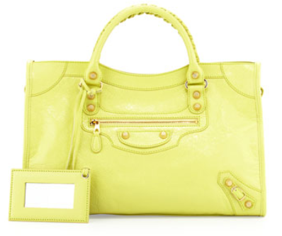 Balenciaga Giant 12 Golden City Bag, Jaune Citron