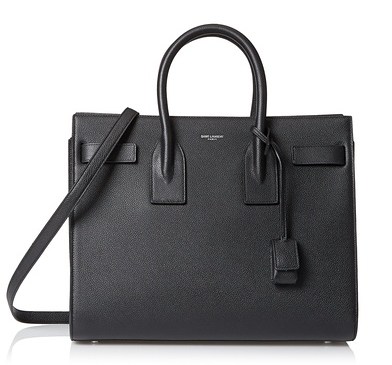 Saint Laurent Leather Satchel, Black