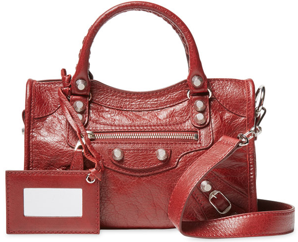 Giant 12 Mini Lambskin Leather City Satchel