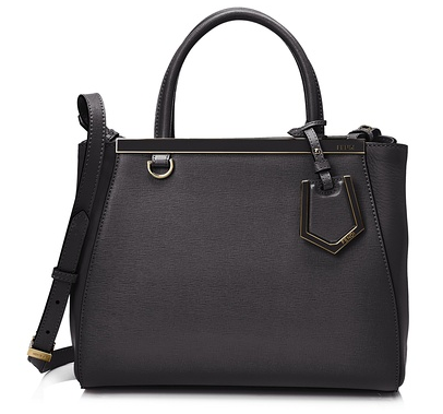 Fendi 2Jours Handbag, Black
