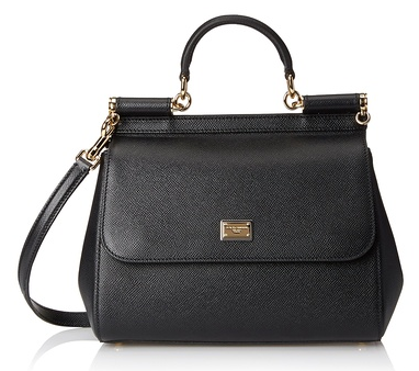 Dolce & Gabbana Leather Satchel, Black