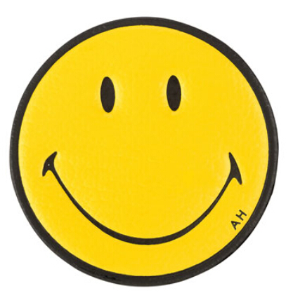Anya Hindmarch Smiley Face Leather Sticker for Handbag