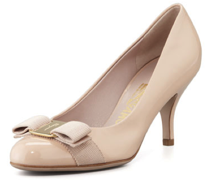 Carla Patent Bow Pump, New Bisque