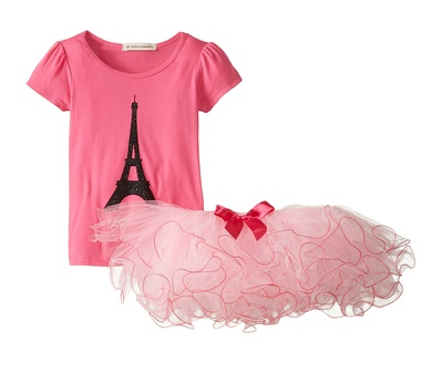 Million Polkadots Eifel Tower Tutu Set