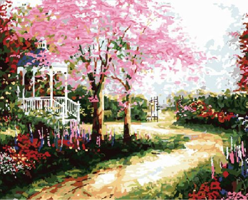 Diy oil painting, paint by number kit- Dream trails 16*20 inch.