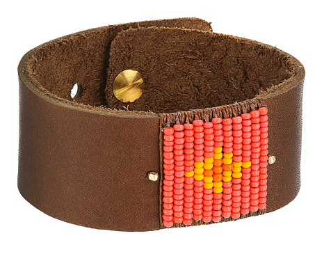 Dogeared Paradise Found Wide Leather Cuff