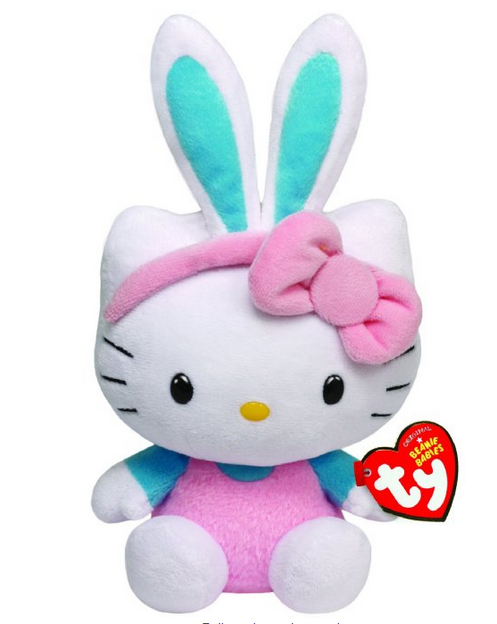 Ty Beanie Babies Hello Kitty with Turquoise Ears Plush