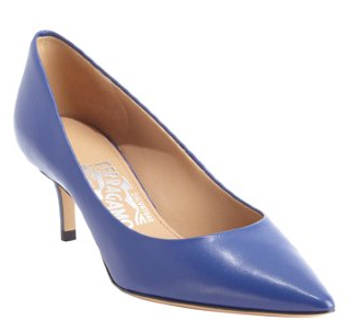 Salvatore Ferragamosapphire leather pointed toe pumps