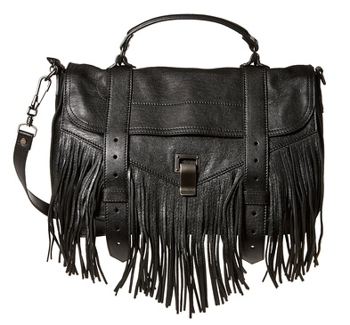 Proenza Schouler PS1 Medium Fringe Satchel, Black