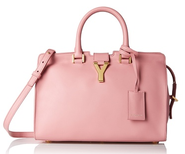Saint Laurent Leather Satchel, Rose