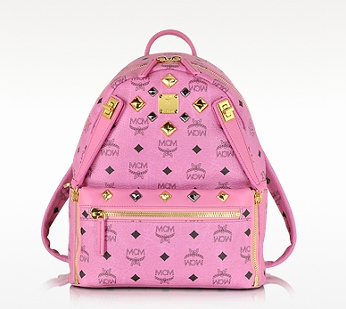 MCM Pink Small Dual Stark Backpack