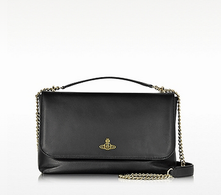 VIVIENNE WESTWOOD Black Spencer Large Shoulder Bag