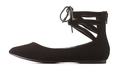 ANKLE CUFF POINTY TOE FLATS