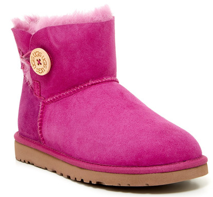 UGG Australia Mini Bailey Button Genuine Sheepskin Boot