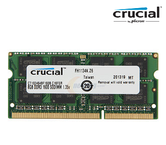 Crucial 8GB 1600 (PC3L 12800) Laptop Memory