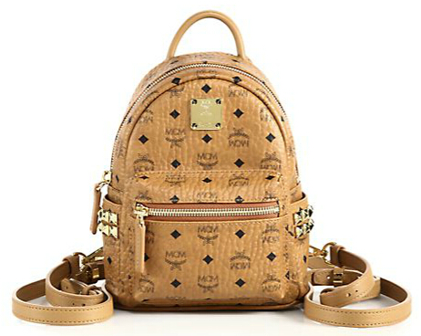 MCM Stark X-Mini Coated Canvas Backpack