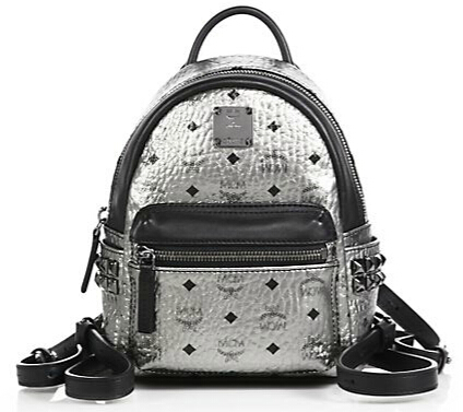 MCM Stark X Mini Side Stud Coated Canvas Backpack