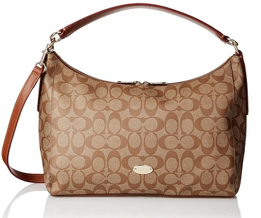 Coach East/West Celeste Convertible Hob Bag, Khaki Saddle