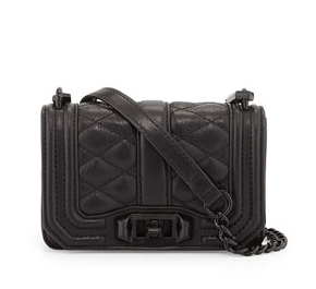 Rebecca Minkoff Mini Love Quilted Crossbody Bag, Black