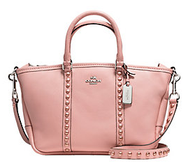 COACH  Leather Central Satchel