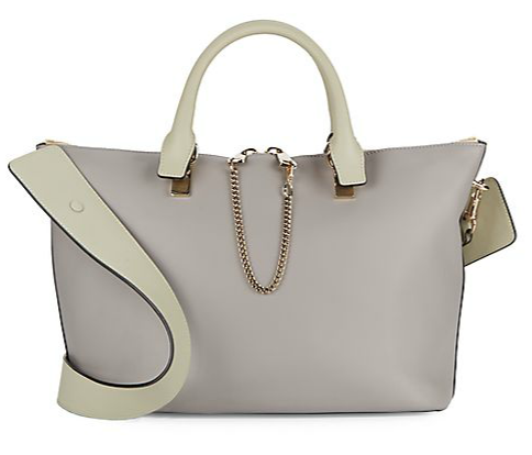 Chloé Baylee Two-Tone Leather Satchel