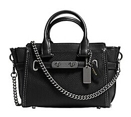 COACH  Swagger 20 Chain Strap Leather Satchel