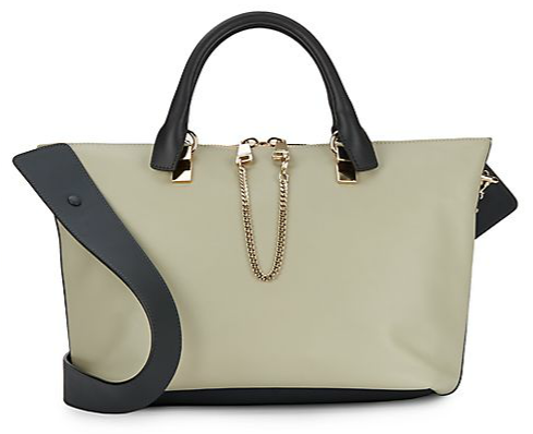 Chloé Baylee Colorblock Leather Satchel