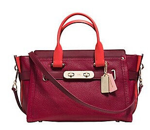 COACH  Swagger Colorbocked Leather Satchel