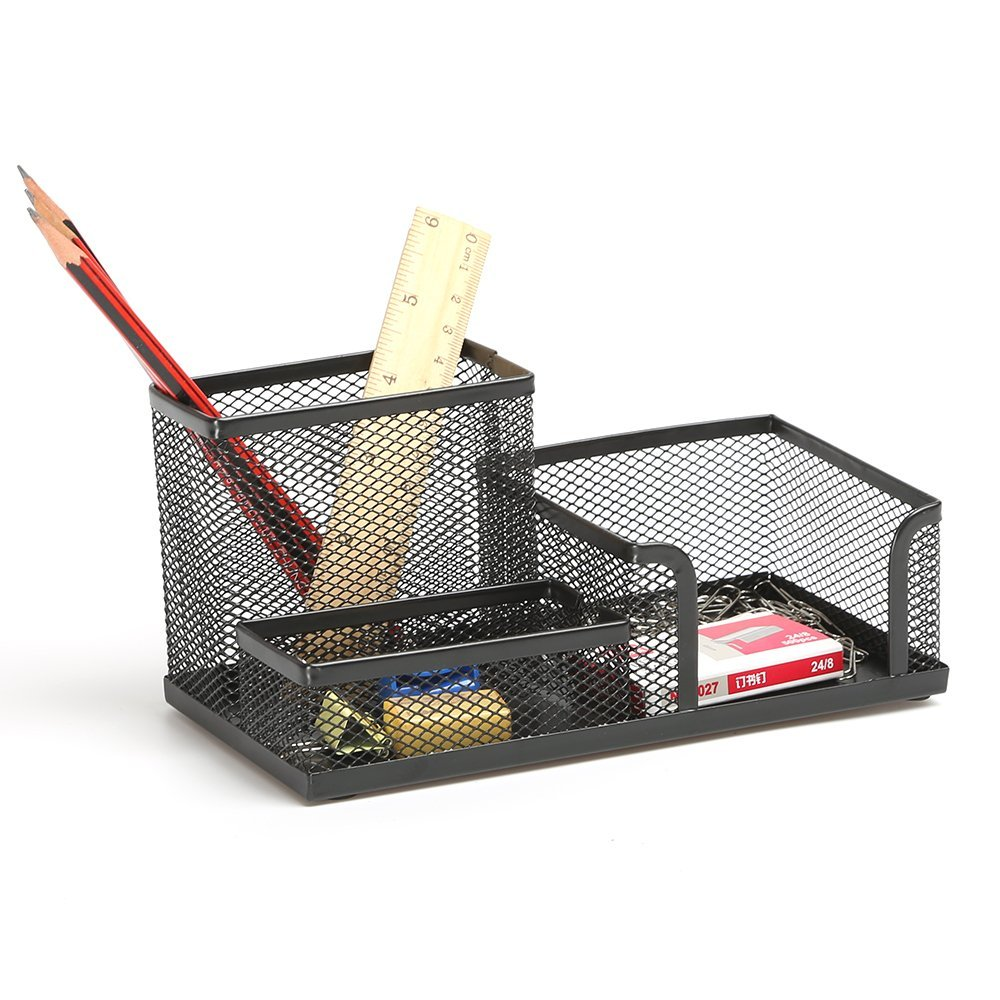 Aojia Mesh Collection Supply Caddy, 8.27''x4.33''x3.94''h,black Ly-9128a