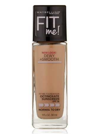Maybelline New York Fit Me! Foundation, 120 Classic Ivory, SPF 18