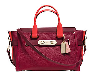 COACH  Swagger Colorbocked手提包