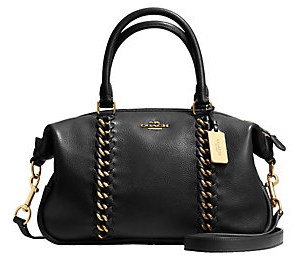 COACH  Leather Jumbo Central Satchel