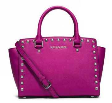 MICHAEL Michael Kors Selma Studded Saffiano Leather Satchel