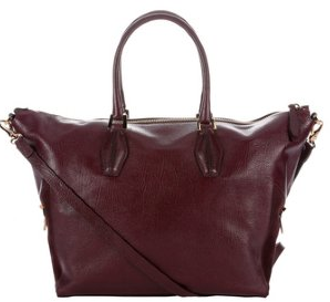 Tod's purple leather large convertible tote bag