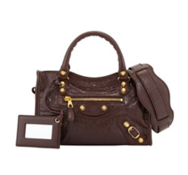 Balenciaga	 Giant 12 Golden Mini City Bag, Dark Brown