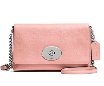 COACH Crosstown Pebbled Leather Crossbody Bag