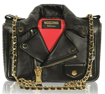 MOSCHINO Motorcycle Jacket Bag , Black/Red