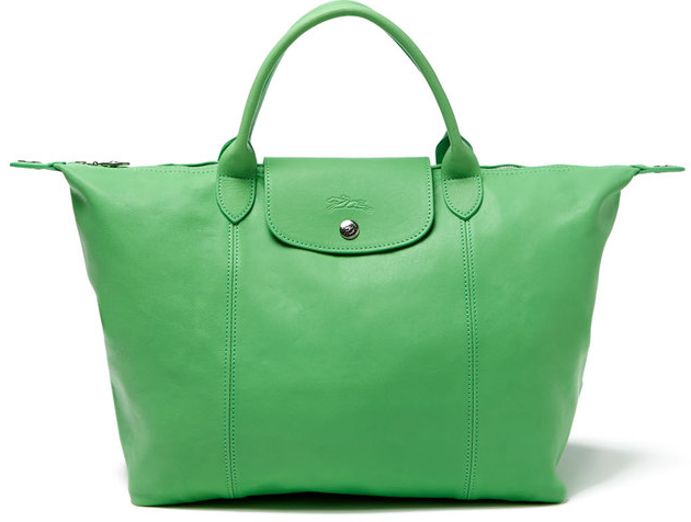 Longchamp Le Pliage Cuir Leather Medium Convertible Tote