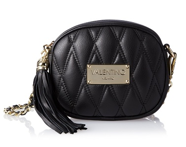 Valentino Bags by Mario Valentino Nina D Quilted Crossbody, Black