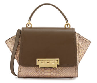ZAC Zac Posen Eartha Mini Crossbody Leather Bag, Olive