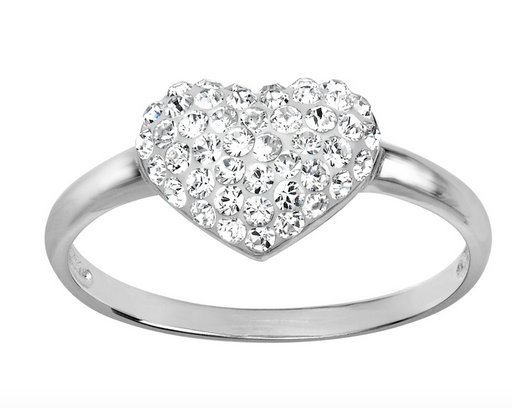 Heart Ring with Swarovski Crystals