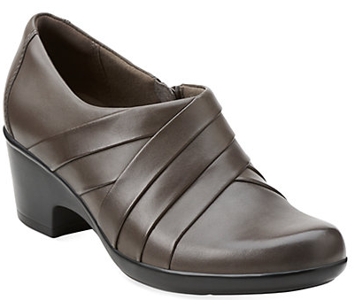 Clarks Genette Rise Leather Bootie