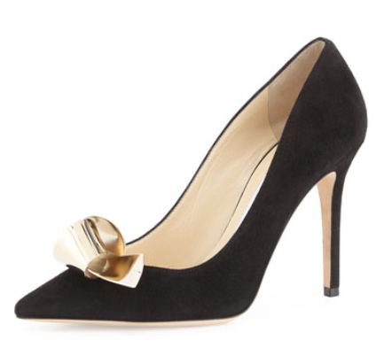 Jimmy Choo Vesna Metal Bow Pump, Black