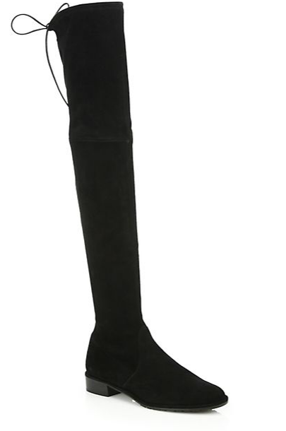 Stuart Weitzman Lowland Suede Lace-Up Over-The-Knee Boots